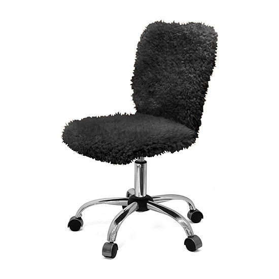 Faux Fur Task Adjustable Roll Chair