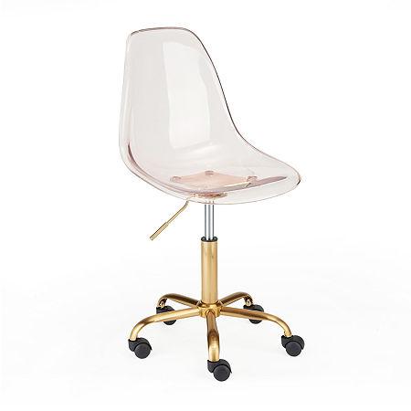 Urban Shop Acrylic Rolling Chair