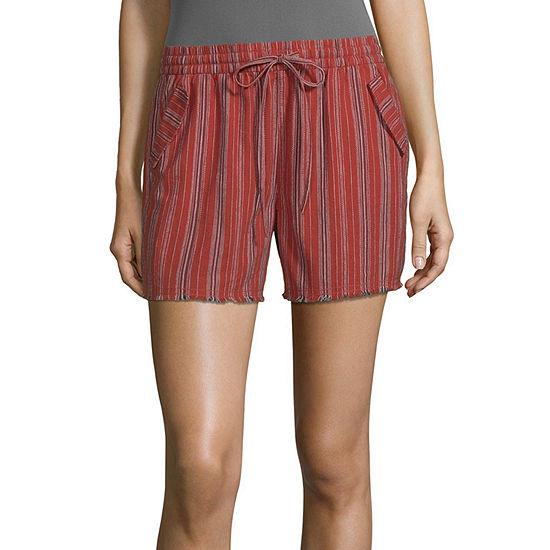 a.n.a-Tall Womens Mid Rise Pull-On Short