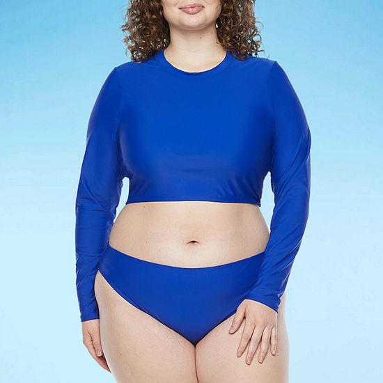Decree Rash Guard Swimsuit Top Juniors Plus
