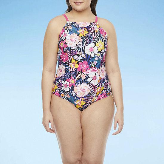 Decree Womens One Piece Swimsuit Juniors Plus