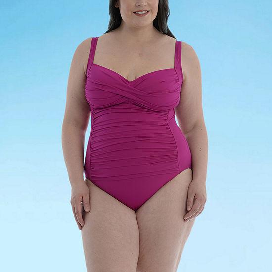 Sonnet Shores Golden Coast Plus Womens One Piece Swimsuit Plus
