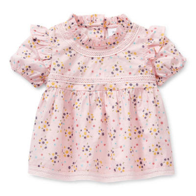 Okie Dokie Baby Girls Short Sleeve Fitted Sleeve A-Line Dress