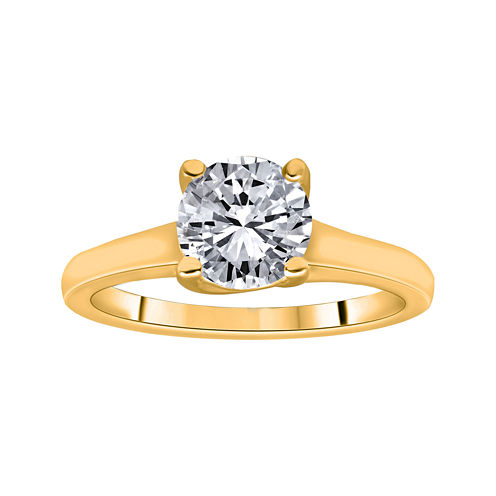 1¼ CT. Round Certified Diamond Solitaire 14K Yellow Gold Ring