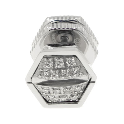 Mens 1/10 CT. T.W. Diamond Stainless Steel Stud Earring