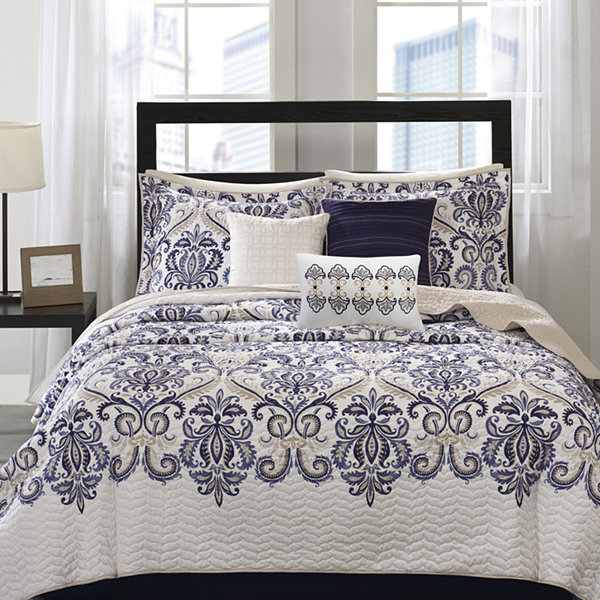 Madison Park Cardiff 6 Pc. Quilted Coverlet Set