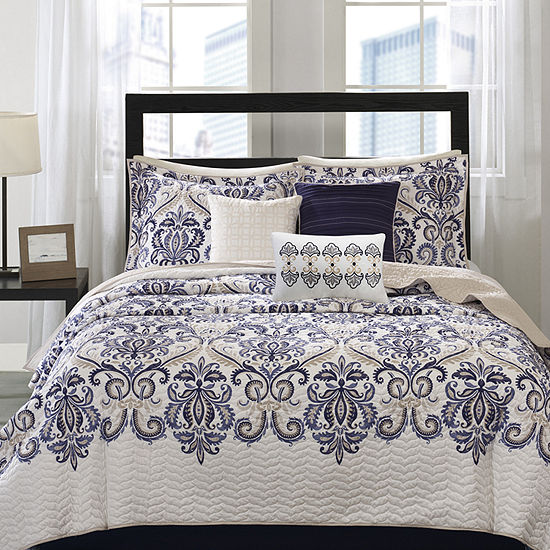 Madison Park Cardiff 6-pc. Quilted Coverlet Set