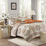 Madison Park Curtner 6-pc. Quilted Coverlet Set