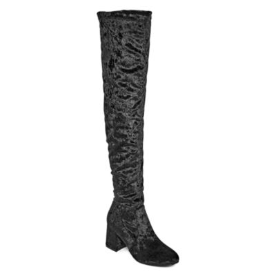 GC Shoes Womens Bailey Over the Knee Boots Block Heel Pull-on