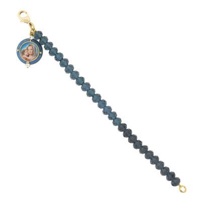1928 Symbols Of Faith Religious Jewelry Gold Tone Charm Bracelet
