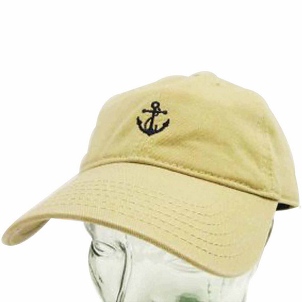 Khaki Anchor Dad Cap