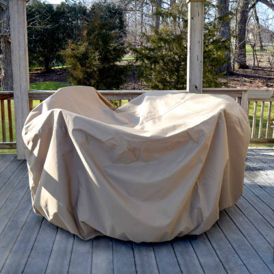 All-Weather Protective Cover For Round Table & Chairs W/ Umbrella Hole