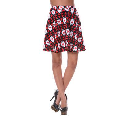 White Mark Heidi Flared Skirt