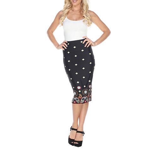 White Mark Amber Pencil Skirt