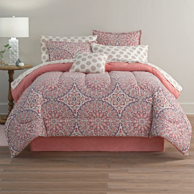 Home Expressions Callista Bohemian Reversible Complete Bedding Set with Sheets