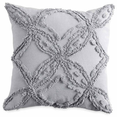 Peri Metallic Chenille Square Throw Pillow