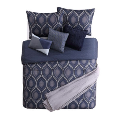 Jennifer Adams Home Bastif 7-pc. Reversible Comforter Set