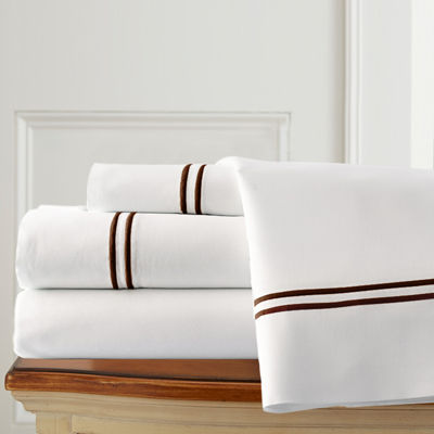 1000 Thread Count Cotton Blend Double Marrow Hem 4pc Sheet Set