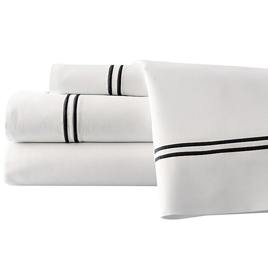 1000 Thread Count Cotton Blend Double Marrow Hem 4pc Sheet Set