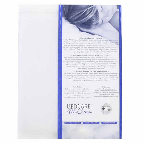BedCare All Cotton Allergy and Bed Bug Proof Pillow Cover