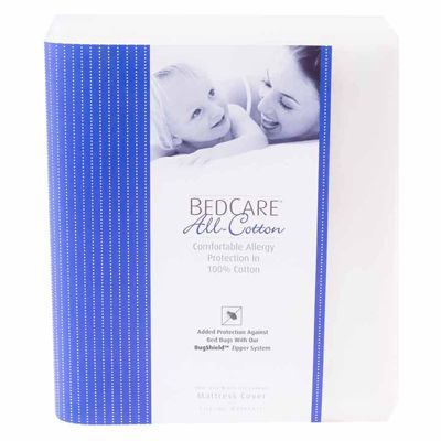 BedCare All Cotton Allergy and Bed Bug Proof 18inch Mattress Cover