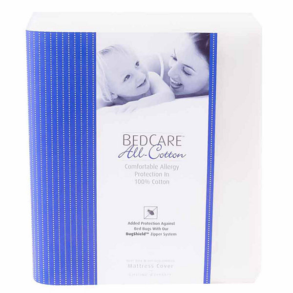 BedCare All Cotton Allergy and Bed Bug Proof 12inch Mattress Cover