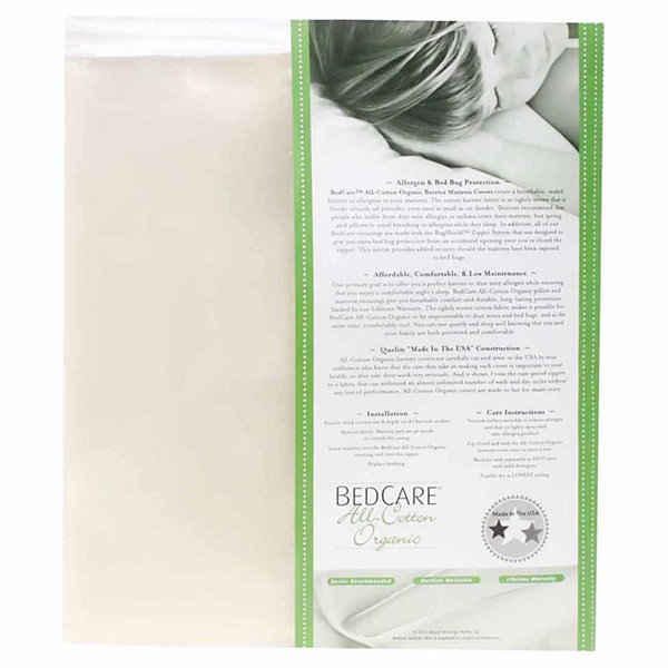 BedCare Organic Cotton Allergy and Bed Bug Proof 9inch Mattress Cover