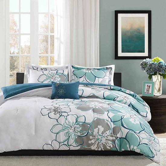 Mi Zone Skylar  Floral Comforter Set