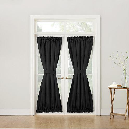 Montego Rod-Pocket Door Panel Curtain