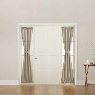 Sun Zero Emory Light-Filtering Rod-Pocket Single Sidelight Curtain