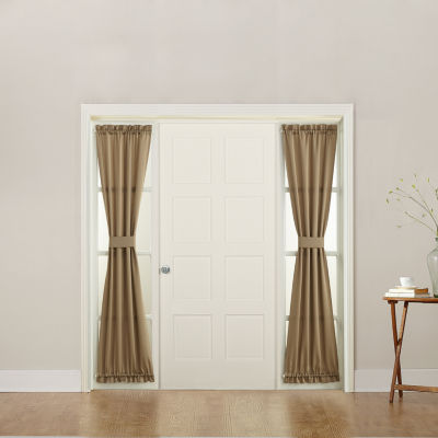 Sun Zero Emory Room Darkening Rod-Pocket Sidelight Curtain