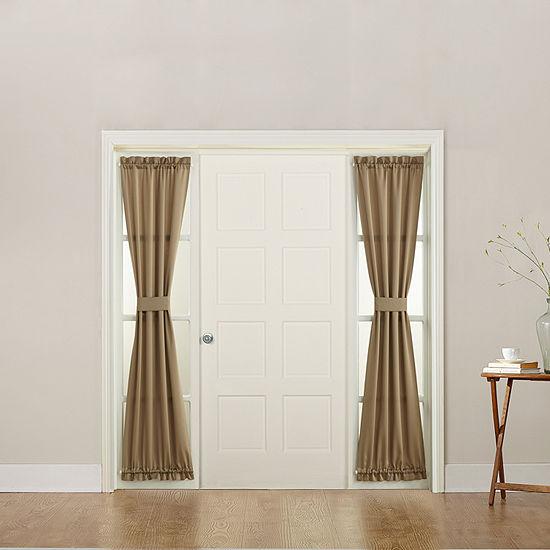 Sun Zero Emory Energy Saving Room Darkening Rod-Pocket Sidelight Curtain