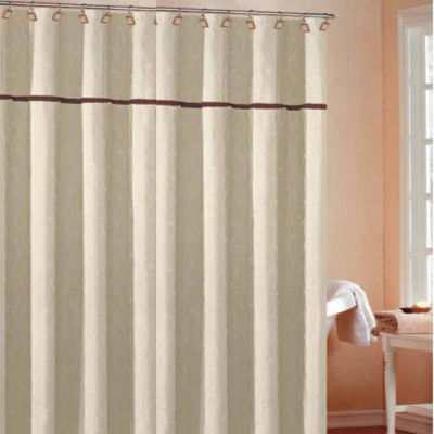 Delightful Duck River Charisma Leaves Shower Curtain With 2 Pleats