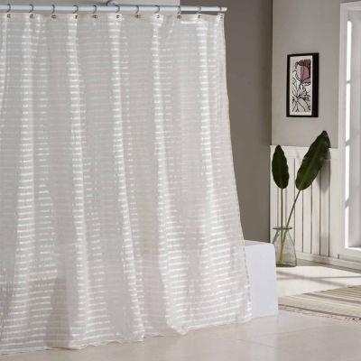 Duck River Tabitha Satin/Linen Stpe Shower Curtain