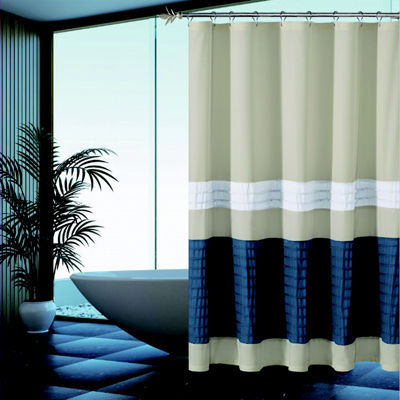 Duck River Portico Pleated Shower Curtain
