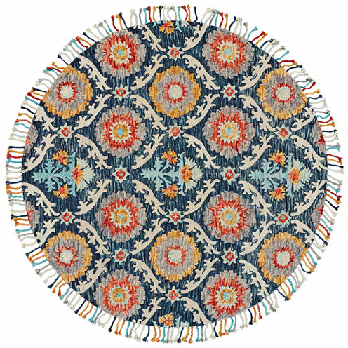Room Envy Calendra Lily Hand Tufted Round Rugs