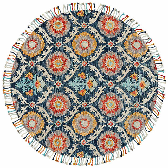 Weave And Wander Calendra Lily Hand Tufted Round Indoor Rugs