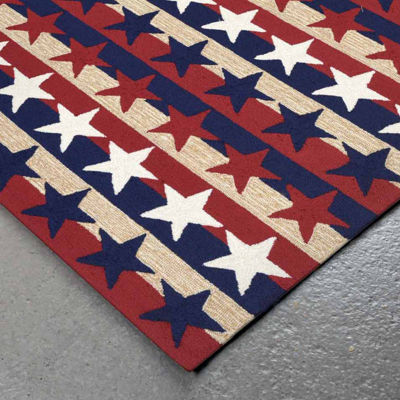 Liora Manne Frontporch Stars And Stripes Hand Tufted Rectangular Rugs