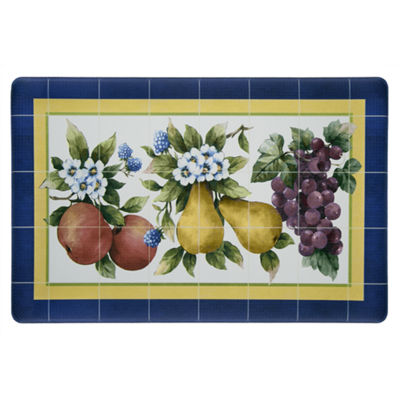 Achim Fruity Tiles Rectangular Kitchen Mat