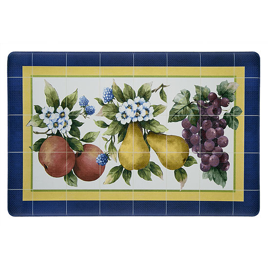 Achim Fruity Tiles Rectangular Anti-Fatigue Kitchen Mat