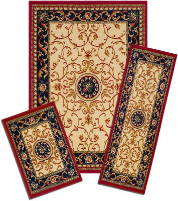 Achim Wrought Iron Medalian Rectangular 3-pc. Rug Set