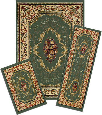 Achim Rose Garden Rectangular 3-pc. Rug Set