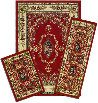 Achim Savonnerie Rectangular 3-pc. Rug Set