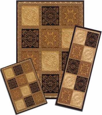 Achim Sarouk Squares Rectangular 3-pc. Rug Set