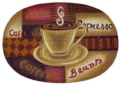 Achim Coffee Braided Oval Rugs