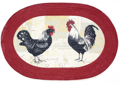 Achim Rooster Braided Oval Rugs