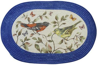 Achim Love Birds Braided Oval Rugs