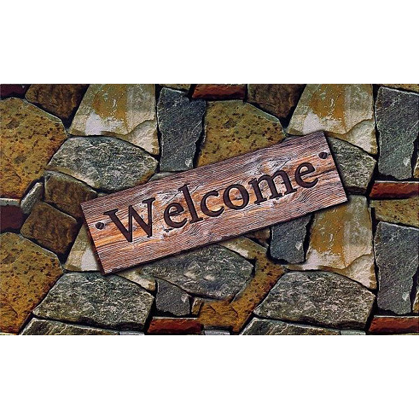 Achim Quarry Stone Rectangular Doormat
