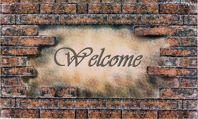 Achim Welcome Brick Rectangular Doormat