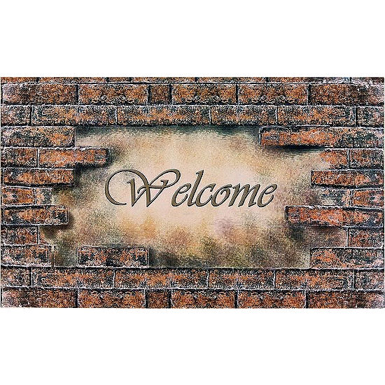 Achim Welcome Brick Rectangular Doormat